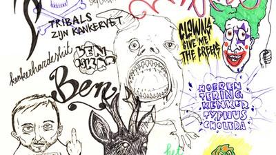Kankerhardemoederneukendeteringshit!- Gevonden tekeningen van Ben