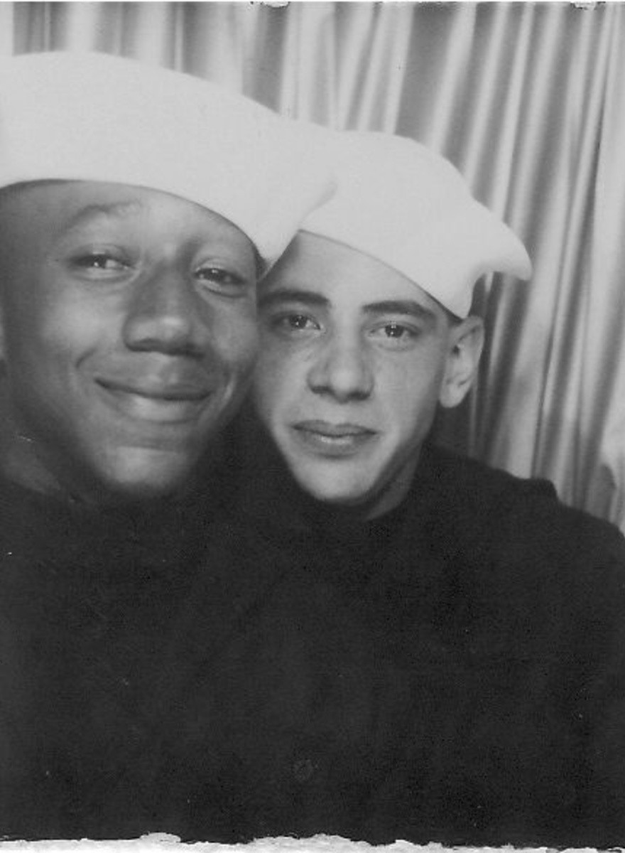 Schwule afroamerikanische Paare einer anderen Epoche