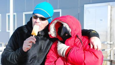Neutrino's jagen op Antarctica