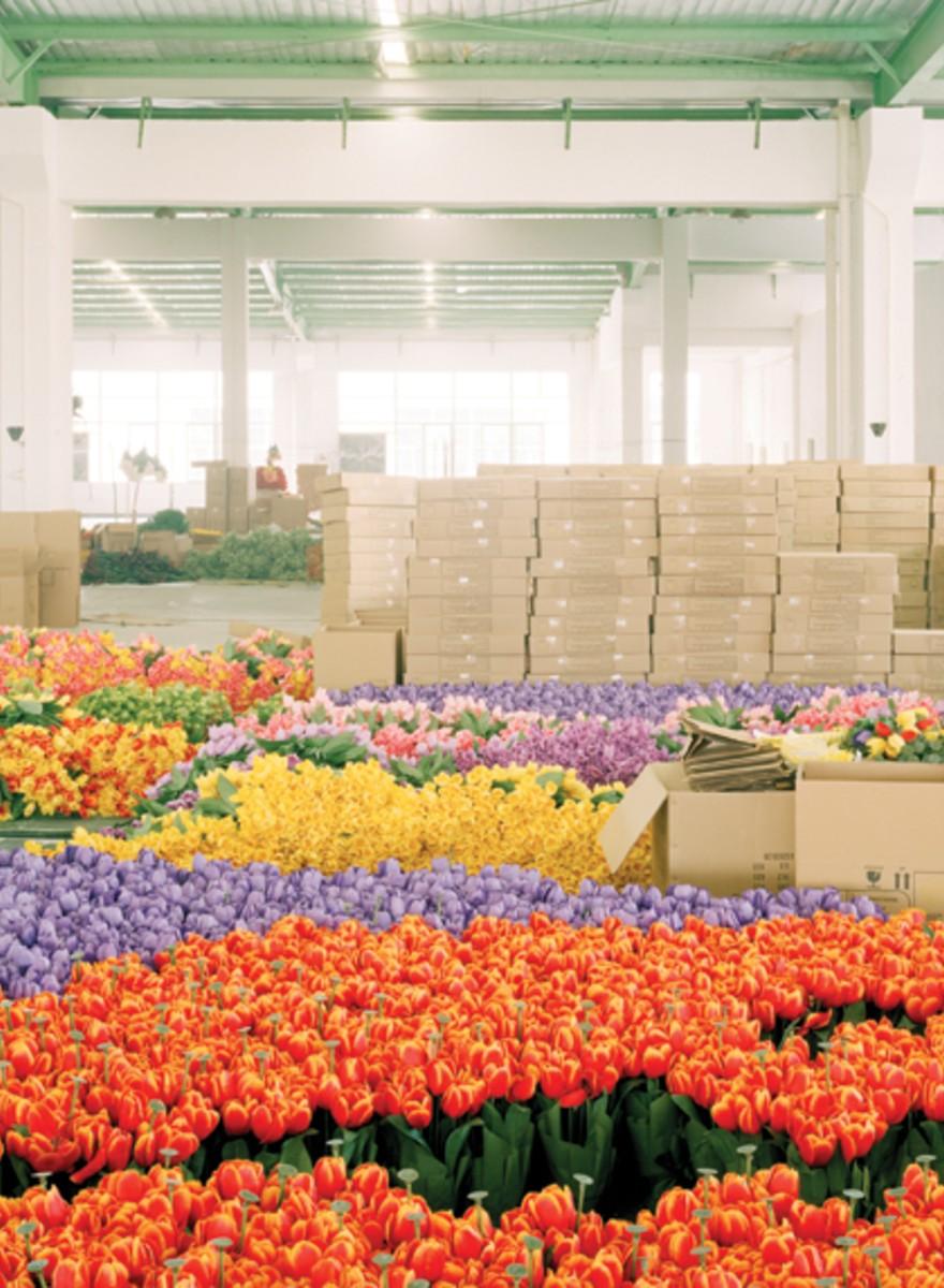 Plastikblumen aus China