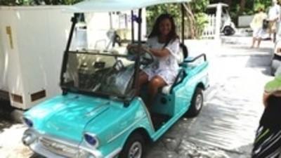 Los fabulosos autos de golf personalizados de las Bahamas