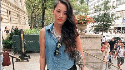 Sweaty Street Style at Jen Kao's NYFW Show
