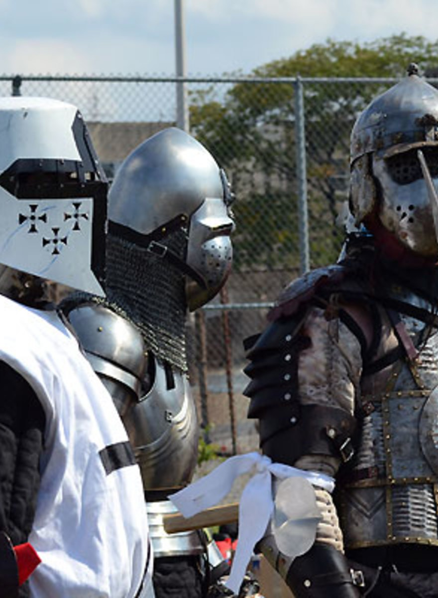A Bunch of Guys Wearing Chainmail and Bashing Each Other Is a Sport