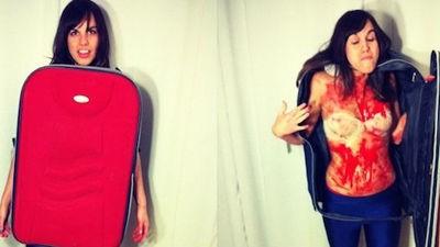 Disfraces caseros para Halloween: torso en una maleta
