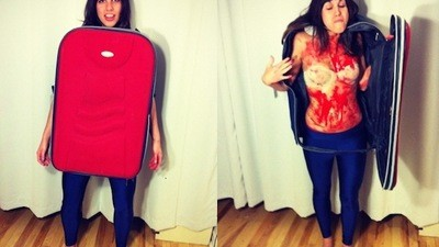 DIY Halloween Costumes: Torso in a Suitcase