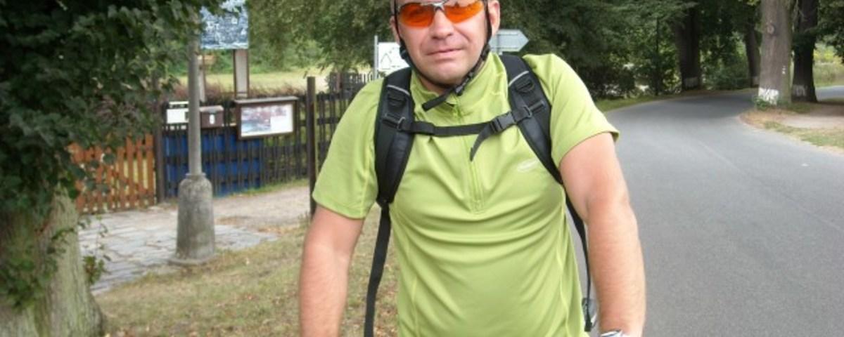 Cyklistický potlach sbásníkem Radkem Fridrichem