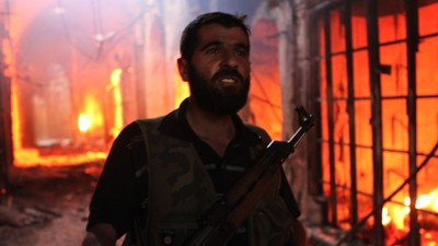 Syria - The Burning of the Old Souk