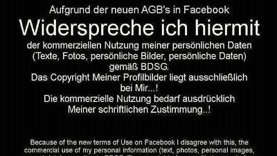 Widerstand gegen die Facebook-AGBs ist zwecklos!
