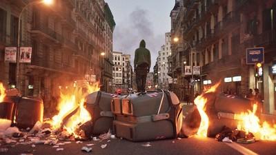 Huelga general: Una soleada tarde de guerrilla urbana en BCN