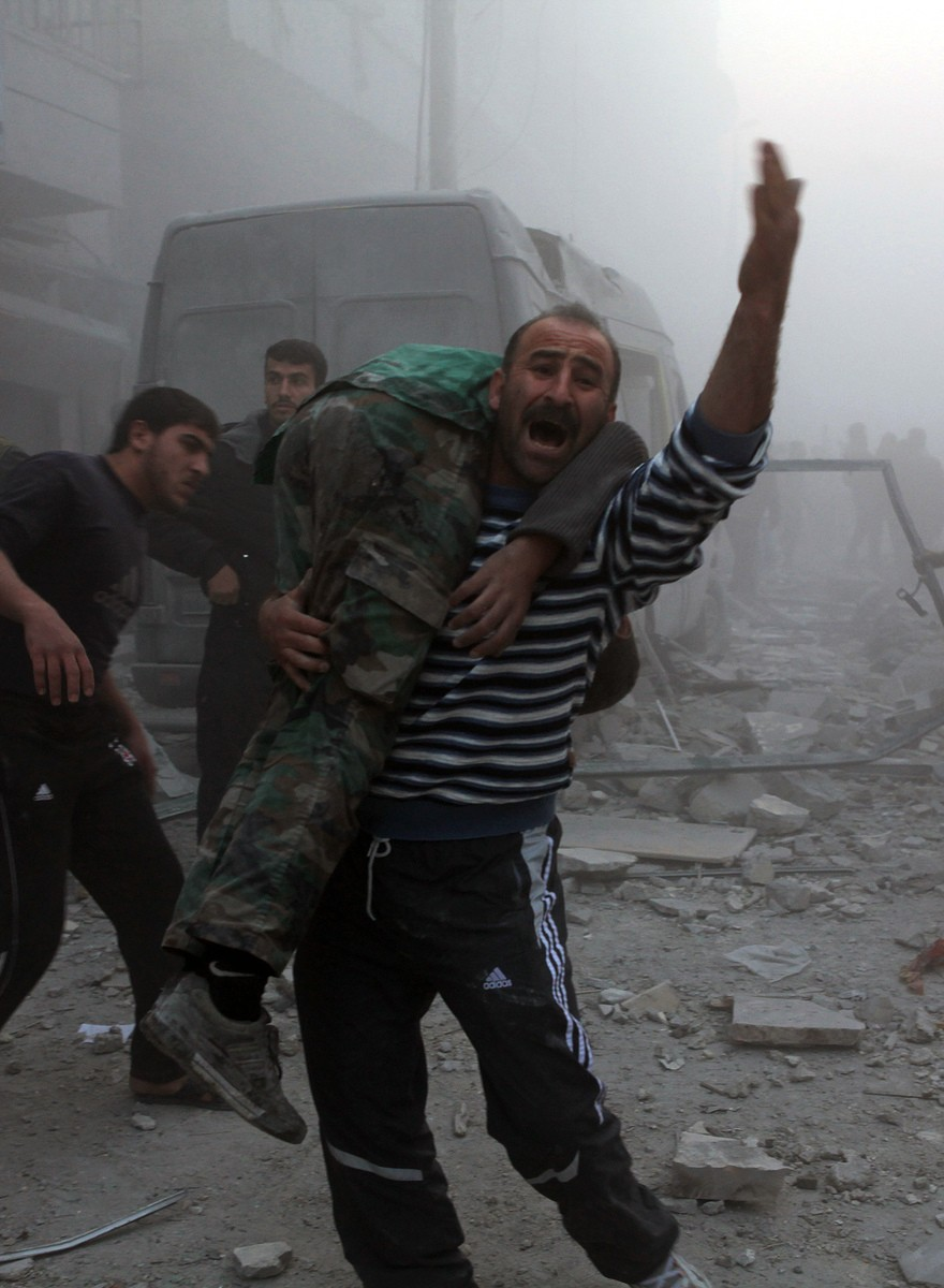 Assad bombardierte das Dar-al-Shifa-Feldlazarett in Aleppo