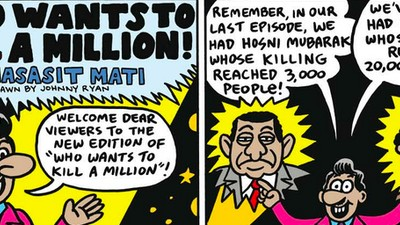 La página de Johnny Ryan: Who wants to kill a million!