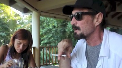 A Snippet of the Last Few Days in the Life of John McAfee