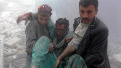 Syrië - Het bombardement op het Dar al-Shifa ziekenhuis in Aleppo