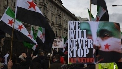Hanging Out with Angry Syrians at London's Civil War Birthday Party