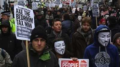 Celebrating the Tories' Bedroom Tax with Thousands of Angry Protesters