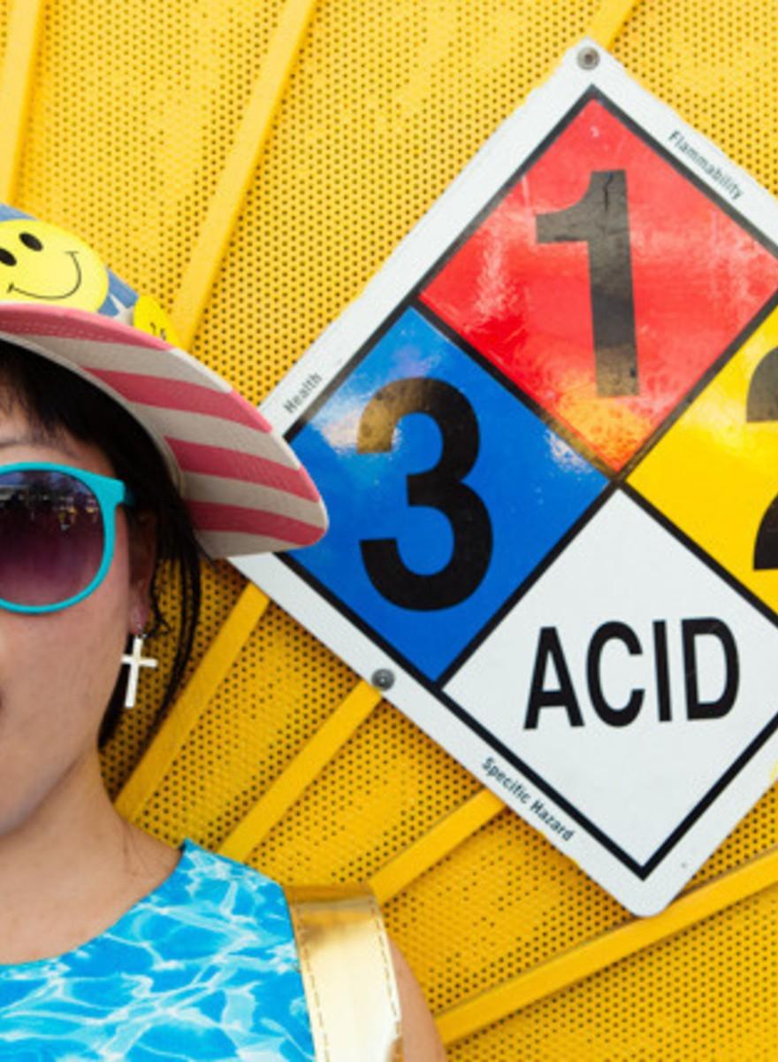 Foto in acido dal Coachella