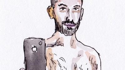 Ted Sterchi schildert de profielfoto's van Grindr-gebruikers na