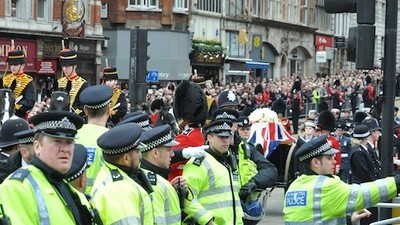 Protest At Thatcher's Funeral