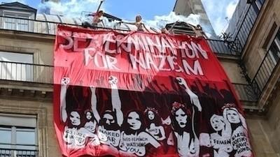 J'ai passé le week-end avec des féministes à poil qui font chier les extrémistes français