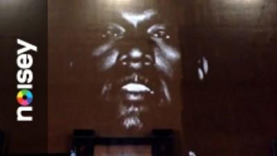 Kanye West zegende Amsterdam vrijdag met zijn video-art