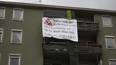 Gorilla-Guerilla in München gegen die Gentrifizierung