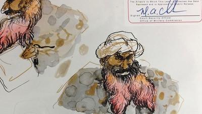 Molly Crabapple ging naar Guantanamo Bay om het proces tegen Khalid Sheikh Mohammed te illustreren
