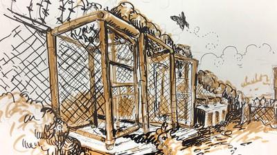 Molly Crabapple ilustró el Campo Rayos X, en Guantánamo