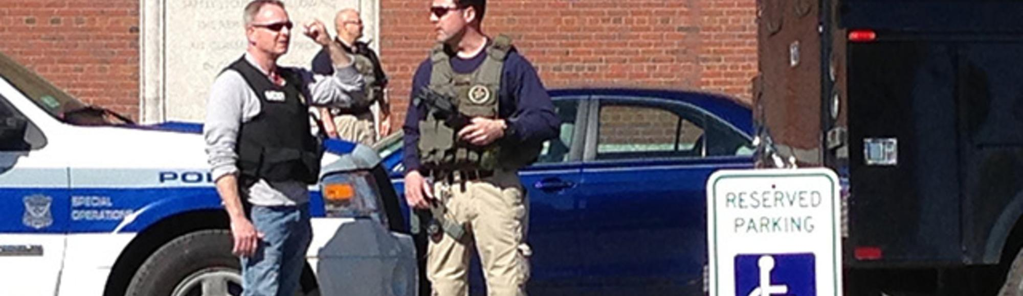 Bomb Threats and Bagpipes on a Day of False Reports in Boston