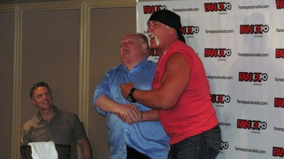 Crack Smoking Mayor Rob Ford Arm-Wrestled Hulk Hogan and Won
