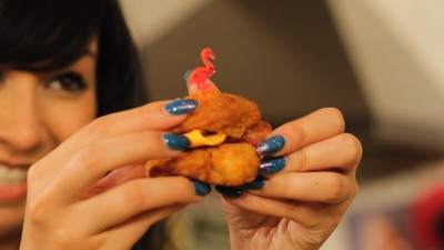 Mini Fried Chicken Hors d'Oeuvres