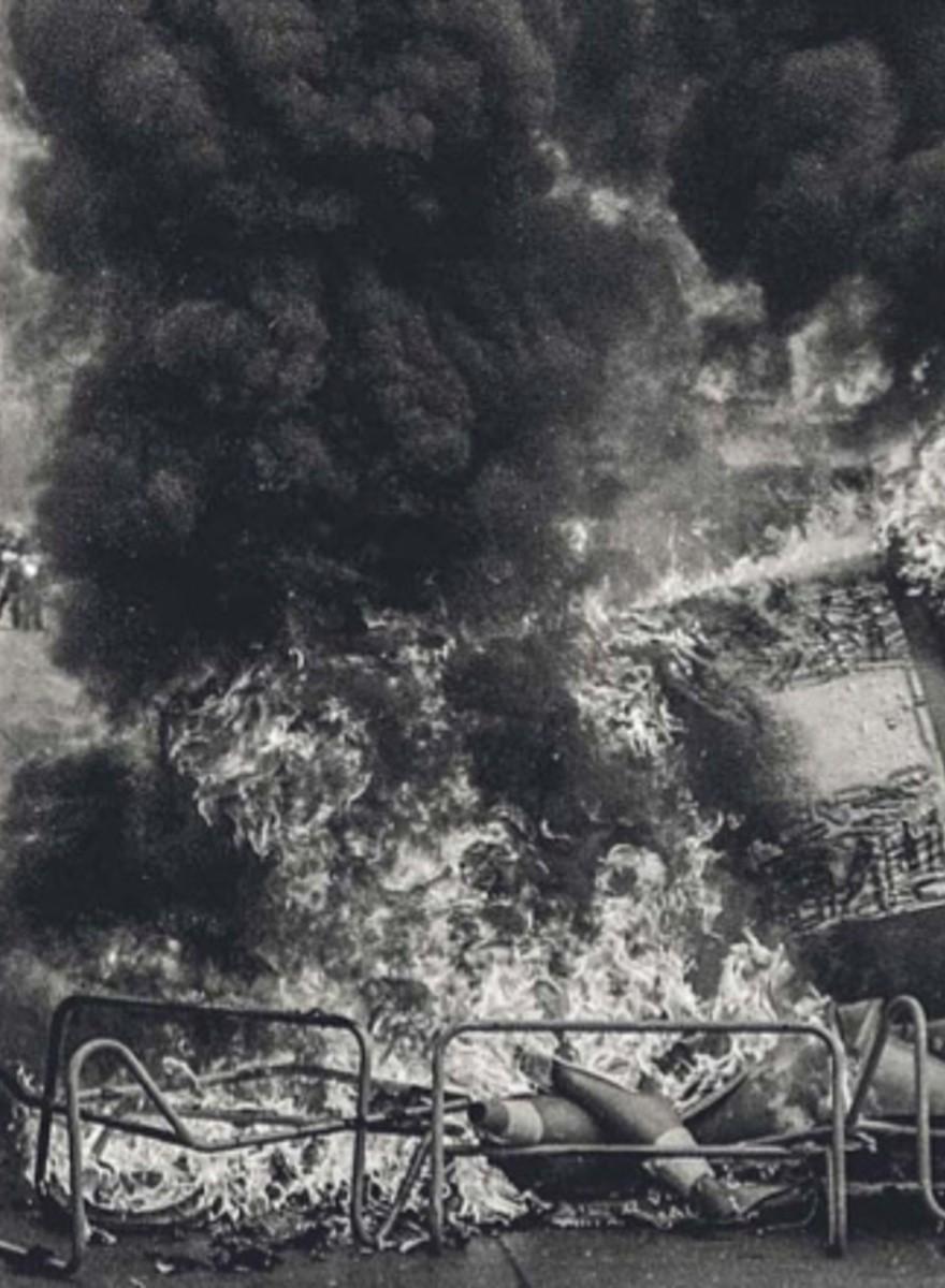 Los campos de guerra de las manifestaciones en Chile