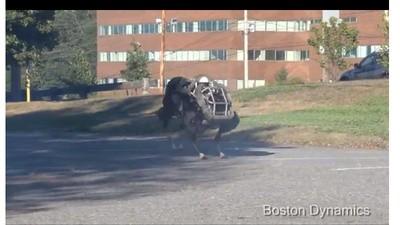 Watch a Galloping Four-Legged Robot Sprint Through a Parking Lot