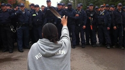 Canadian Cops Ambushed a First Nations Anti-Fracking Protest