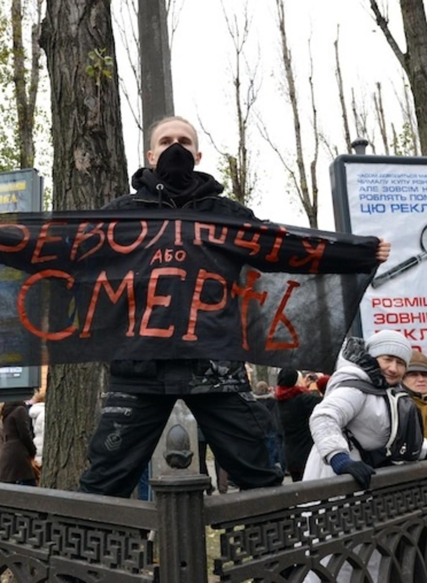 Proeuropäische Demonstranten errichten Zeltstadt in Kiew