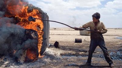 Die Schrecken der provisorischen Ölindustrie im von Rebellen kontrollierten Teil Syriens