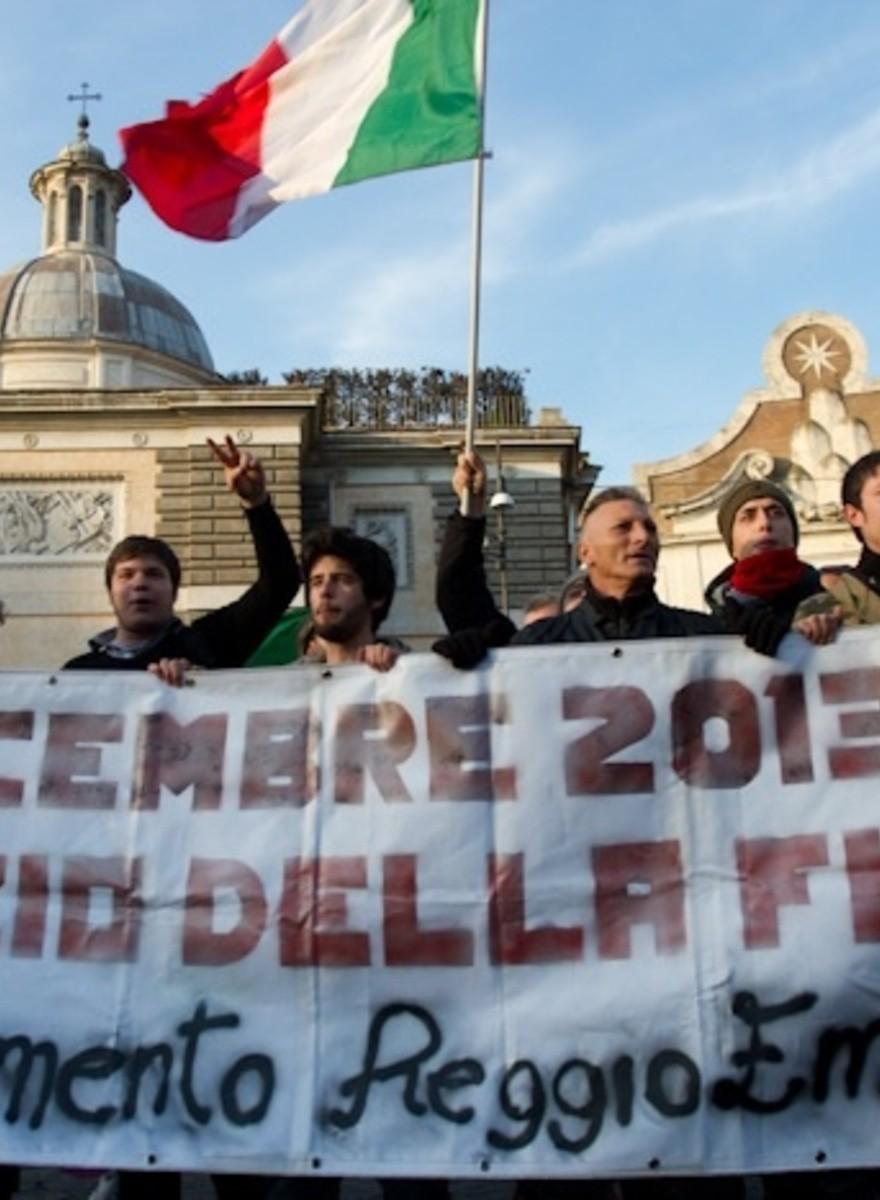 El Movimiento de la Horca llegó a Roma