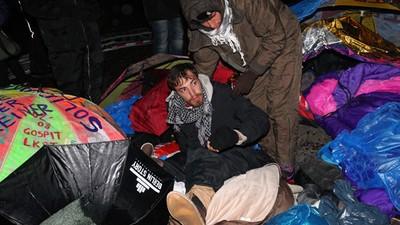 Die Hungerstreikenden vom Brandenburger Tor