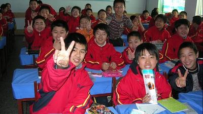 Je hoeft niet echt iets te kunnen om in China Engels te geven