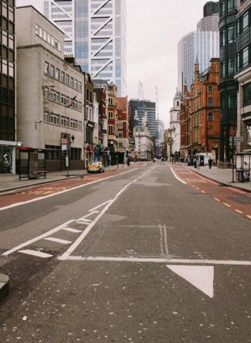 London was een dag lang een spookstad