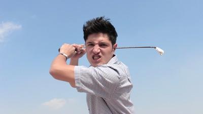 No te metas con un golfista