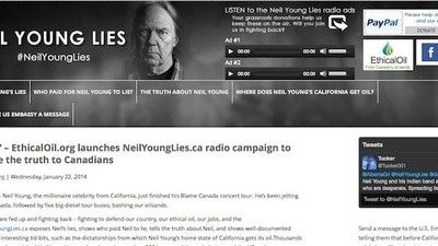 'Neil Young Lies' Is Pro-Oil Propaganda at Its Worst