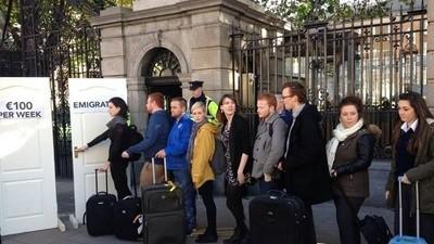 Ierse jongeren emigreren massaal