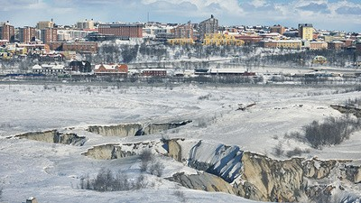 The Swedish Town Being Swallowed by the Earth