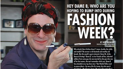 Hey Dame B, Who Are You Hoping to Bump into During Fashion Week?