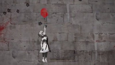 Banksy macht sich für #WithSyria stark