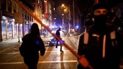 La marcha de la dignidad terminó con enfrentamientos en las calles de Madrid