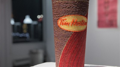 We Talked to the Artist Behind the Beaded Tim Hortons Cup That Everyone's Confused About