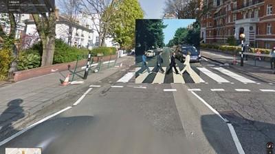 Álbumes icónicos capturados en Google Street View