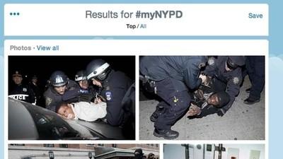 New Yorkers twitteren massaal foto's van politiegeweld