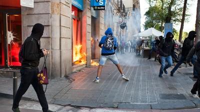 Así fue el 1 de mayo en Barcelona